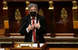 Jean-Luc Mélenchon, à l'Assemblée nationale, à Paris, le 7 juin 2021.