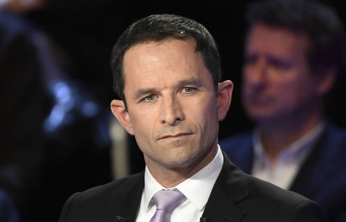 Benoît Hamon lors du débat présidentiel du 4 avril 2017. – Lionel Bonaventure/AP/SIPA