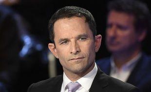 Benoît Hamon lors du débat présidentiel du 4 avril 2017.