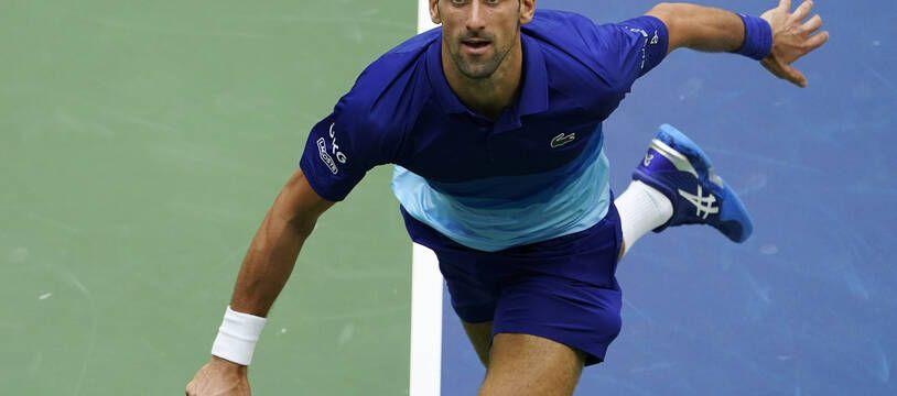 Novak Djokovic lors de l'US Open en 2021.