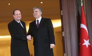 François Hollande et le président turc Abdullah Gül, le 27 janvier 2014 à Ankara.