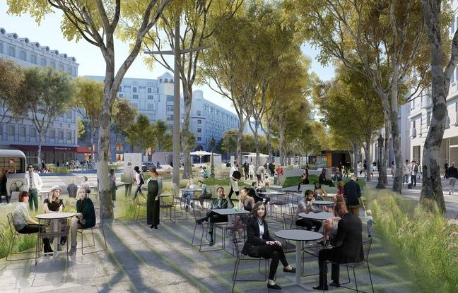 Les nouvelles terrasses imaginées par le comité des Champs-Elysées.