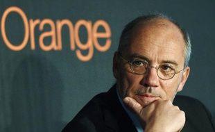Stéphane Richard, PDG d'Orange, le 6 février 2014 à Villeurbanne