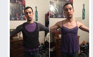 Benjamin Ashton Cooper a essayé les vêtements XL de sa copine.