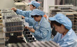 Dans une usine à Nanjing en Chine, le 19 octobre 2020.