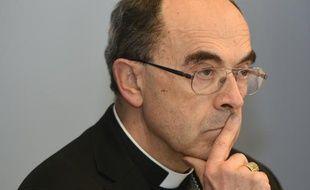 Le cardinal de Lyon, Philippe Barbarin lors d'une conférence de presse à Lourdes, le 15 mars 2016.