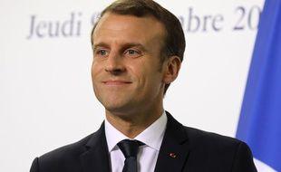 Emmanuel Macron en visite à Dubaï le 9 novembre 2017.