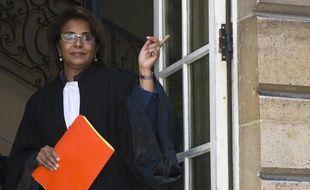 Samia Maktouf, avocate de la mère du garçon de 16 ans parti faire le jihad en Syrie, photo prise à l'arrivée au tribunal administratif de Paris le 9 juin 2015