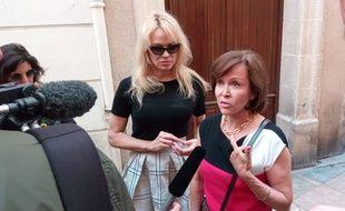 Pamela Anderson et la présidente de l'Alliance anticorrida.