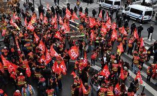 Manifestation de la CGT à Paris, le 19 décembre 2018.