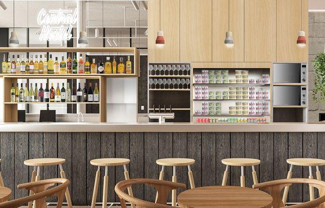 Un restaurant qui se veut qualitatif sera ouvert à tous au rez-de-chaussée de l'auberge de jeunesse Central Hostel.