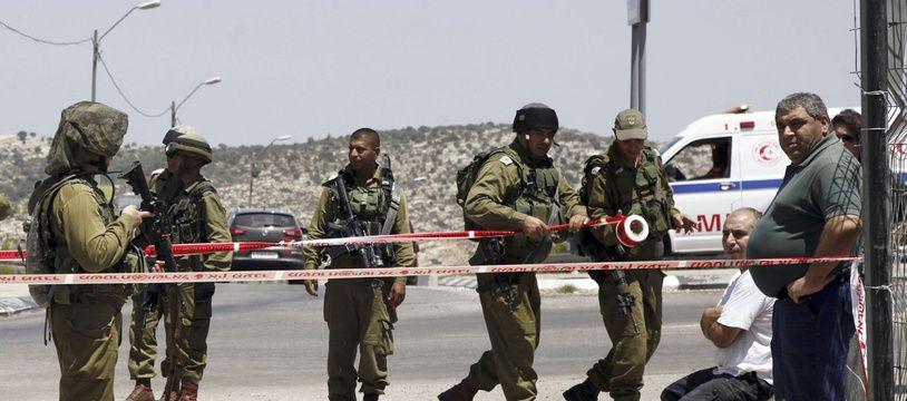Des soldats israëliens le 15 août 2015.
