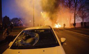 Une manifestation pacifique en soutien à Théo à Bobigny a dégénéré, le 11 février.