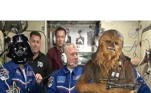 Les membres d'équipage de la station spatiale internationale ont eu droit à une projection de l'épisode VIII de «Star Wars»