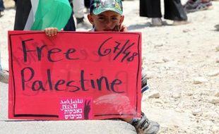 Des centaines d'Israéliens et de Palestiniens ont manifesté le 5 juin 2015 pour dénoncer la démolition du village de Susya, en Cisjordanie