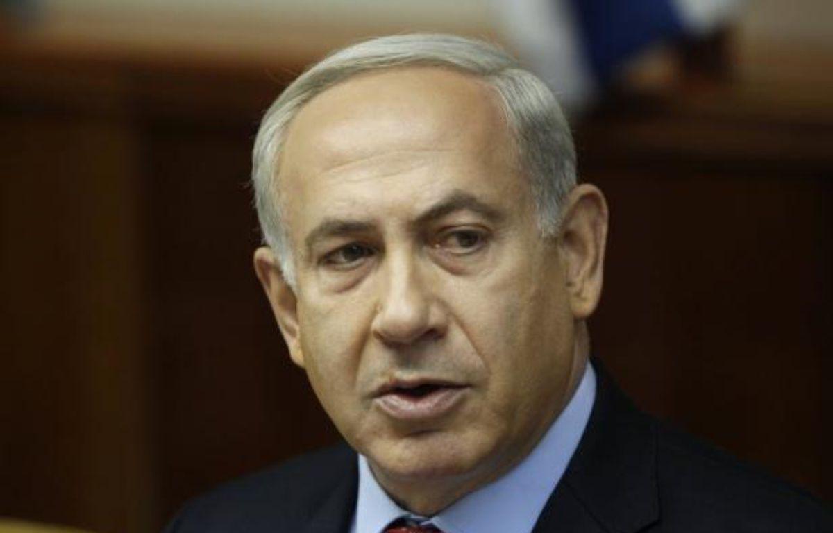 Par son discours va-t-en-guerre sur le nucléaire iranien, qui agace jusqu'à son allié américain, le Premier ministre israélien Benjamin Netanyahu habille ses difficultés à lancer unilatéralement une frappe unilatérale contre Téhéran, estiment des analystes. – Baz Ratner afp.com
