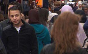 Salah Abdeslam, repéré par une caméra de surveillance à Molenbeek en 2014.
