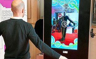 La cabine d'essayage virtuelle, présentée à Bordeaux lors de la semaine digitale