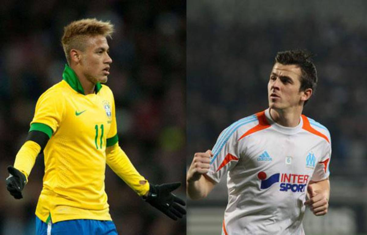 Le Brésilien Neymar et l'Anglais Barton – K.VILLALONGA/SIPA REX/SIPA