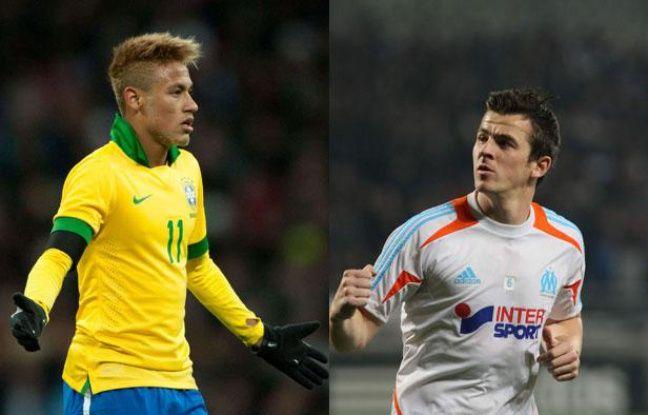 Le Brésilien Neymar et l'Anglais Barton