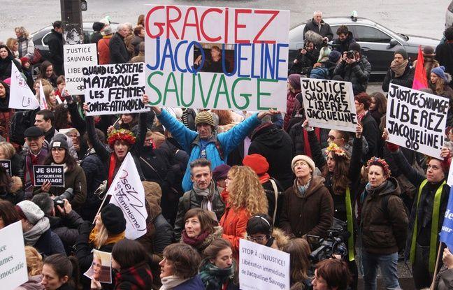 Manifestation de soutien à la grâce demandée pour Jacqueline Sauvage, à Paris le 23 janvier 2016
