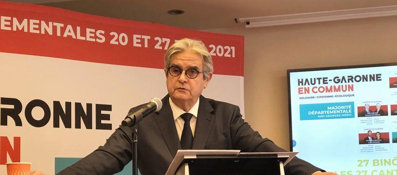 Le président socialiste sortant du Conseil départemental de la Haute-Garonne, Georges Méric.