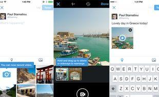 La vidéo intégrée à l'application mobile de Twitter.
