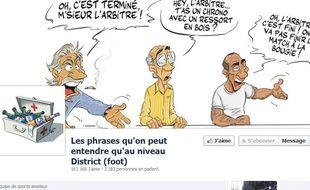 Capture d'écran de la page Facebook «Les phrases qu'on peut entendre qu'au niveau District»