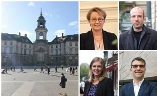 La maire sortante Nathalie Appéré va tenter de faire alliance avec l'écologiste Matthieu Theurier. Carole Gandon (LREM) et le candidat de la droite Charles Compagnon partiront divisés.