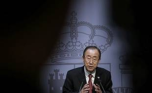 Ban Ki-moon à Madrid le 29 octobre 2015.