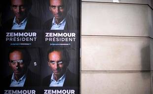 Présidentielle 2022: Des affiches «Zemmour président» collées dans plusieurs villes