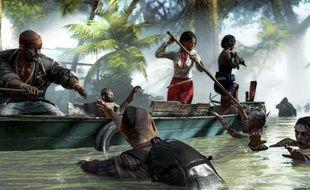 Le jeu vidéo «Dead Island Riptide», où des survivants tentent d'échapper à des zombies.