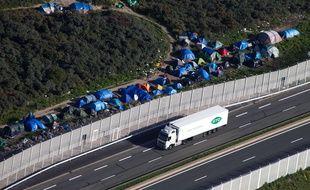 Le camp de la «jungle» de Calais, le 25 septembre 2015.