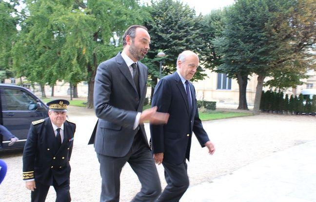 Edouard Philippe et Alain Juppé, à l'hôtel de ville de Bordeaux, le 20 octobre 2017