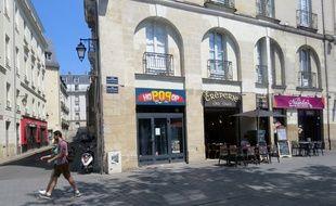 L'agression a eu lieu au bar Hopopop quartier Bouffay à Nantes.