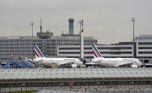 Illustration d'avions d'Air France à Roissy.