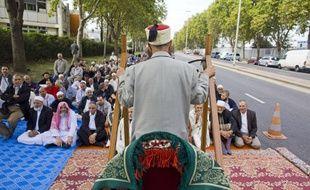 Gennevilliers, le 16 septembre 2011 - Illustration de prière de rue.