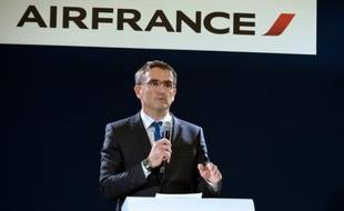 Xavier Broseta, Directeur des Ressources humaines d'Air France, lors d'une conférence de presse, le 5 octobre 2015 à Paris