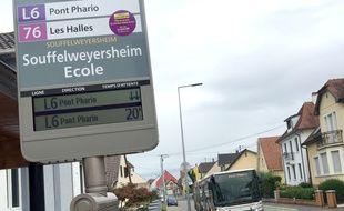 La nouvelle ligne de bus de la CTS, la  L6. Strasbourg le 27  08 2018.