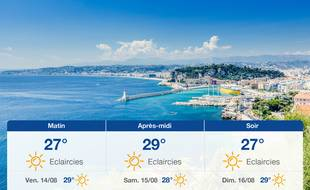Météo Nice: Prévisions du jeudi 13 août 2020