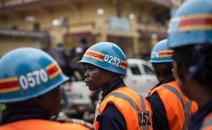 Des policiers congolais à Kinshasa, le 3 mars 2015