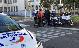 A Strasbourg, les policiers lors d'une opération « anti-rodéo » le 16 octobre 2019.