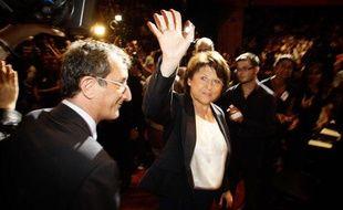 Martine Aubry lors de son premier meeting de campagne pour les primaires Socialistes en vue de l'élection Présidentielle. 7/09/11 Toulouse