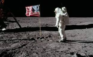 Buzz Aldrin, sur la lune, lors de la mission Apollo 11