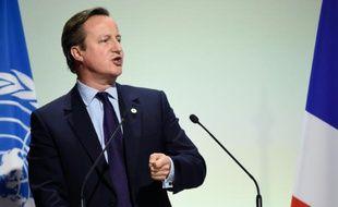 Le Premier ministre britannique David Cameron, le 30 novembre 2015, au Bourget
