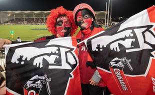 Des supporters des Crusaders, en août 2018.