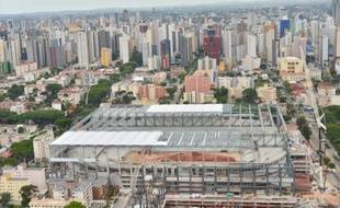 Le stade de Curitiba en construction