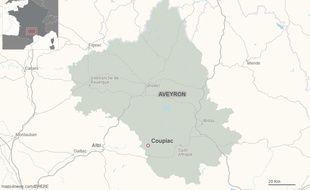 Le village de Coupiac, dans l'Aveyron.