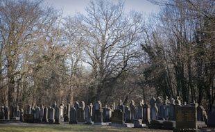 Le cimetière de Mackenheim (Bas-Rhin). Le 16 janvier 2020.