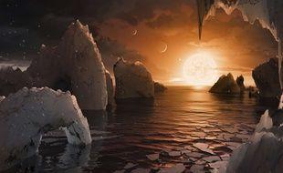 Mieux que les Bahamas, c'est ce à quoi devrait ressembler la planète TRAPPIST-1f, d'après la Nasa.